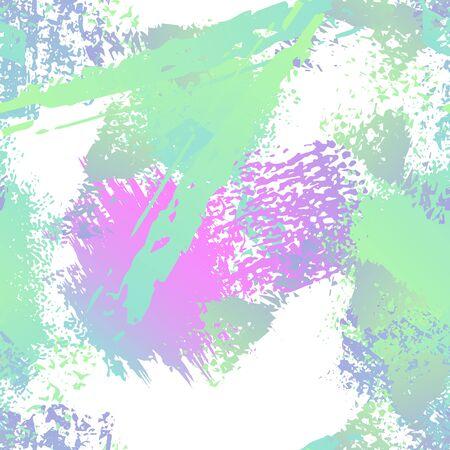 Sports Textile. Fashion Concept. Distress Print. Pink, Mint Illustration. Army Surface Textile. Ink Stains. Spray Paint. Splash Blots. Artistic Creative Vector Background. Ilustração