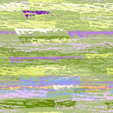 Hand Drawn Grunge Surface. Stripy Chalk Coal Pattern. Seamless Pattern. Chalk Print. Summer Yellow and Green Backdrop. Art Background Surface. Brush Vector illustration.