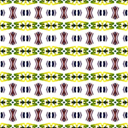 Ethnic  Art. Hand Drawn Painted. Cherokee, American, Navajo Seamless Pattern. Ethnic Texture. Geo Canvas. Burgundy, Green Art. Chevron Print.
