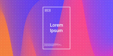 Blend Cover Light Poster. Minimal Creative VectorTemplates. Bright Hipster Banner. Magenta, Crimson Futuristic Background. Modern Horizontal Composition. Abstract  Dynamic Illustration.  向量圖像
