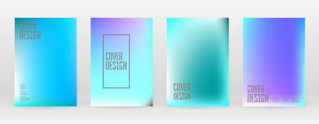 Set Pastel Soft Mesh. Vibrant Blue, Teal, Neon Concept. Trend Holographic Vector. Glossy Cover. Modern Soft Applications. Mobile illustration. Futuristic Network Template Design. Pattern 80s Product.