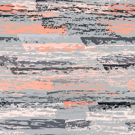 Distressed Stripes. Chalk Textures Surface. Seamless Pattern. Chalk Pattern. Cool Pink and Gray Backdrop. Texture Scratch Overlay Surface. Brush Vector Background.