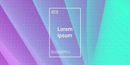 Wavy 3d Color Shape. Color Liquid Gradient. Vector Design. Vivid Creative Magazine. Blue, Teal, Purple Futuristic Background. Modern Horizontal Composition. Abstract  Dynamic Illustration.  Illusztráció
