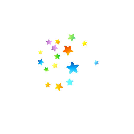 Rainbow Festive Confetti. Carnival Template. Colorful Star Falling. Beautiful Holidays Party.