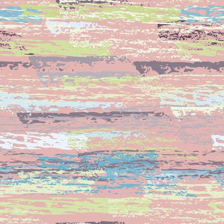 Hand Drawn Grunge Surface. Stripy Chalk Coal Pattern. Seamless Pattern. Summer Chalk Print. Pastel Pink Backdrop. Art Background Surface. Brush Vector illustration.