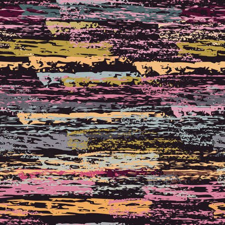 Distressed Stripes. Chalk Textures Surface. Seamless Pattern. Chalk Print. Trending Maroon and Burgundy Backdrop. Texture Scratch Overlay Surface. Brush Vector Background.