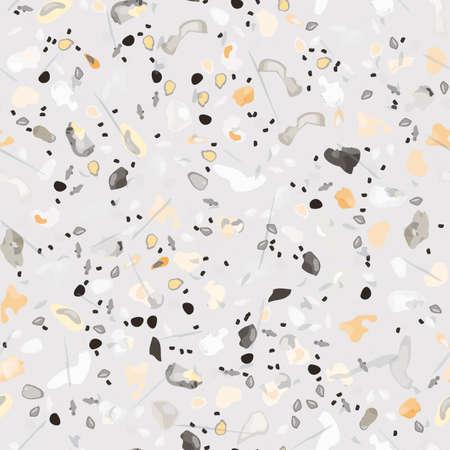 Terrazzo Texture Vector. Flooring Seamless Pattern.  イラスト・ベクター素材
