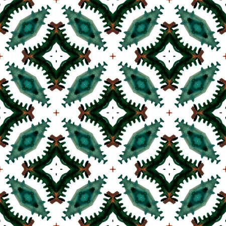 Tribal Texture. Hand Drawn Painted. Navajo, Aztec, American, Cherokee Seamless Pattern. Chevron Geometric. Old Home Decor. Green, Lime, Mint Print. Graphic Print.