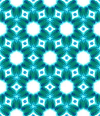 Ethnic Texture. Hand Drawn Painted. Talavera, Azulejos, Portugal, Turkish Seamless Pattern. Ethnic Surface. Geo Cloth. Blue, Indigo Design. Medallion Ornament. 免版税图像