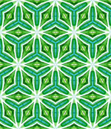 Tribal Texture. Hand Drawn Painted. Gypsy, Mediterranean, South, East Seamless Pattern. Geo Geometric. Folk Native Textile. Blue, Green  Pattern. Natural Pattern.