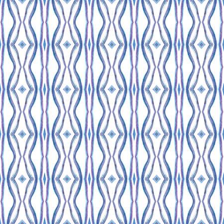 Ethnic Texture. Hand Drawn Painted. Hippie, Boho, Gypsy, Mediterranean Seamless Pattern. Modern Abstract. Folklore Summer Rug. Purple, Pink Texture. Stripes Pattern. 免版税图像