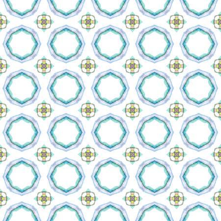 Geo print. Seamless pattern. Geometric Watercolor texture. Ethnic tribal print. Traditional endless repeat motif. Vintage design. Ornament Native Surface. Folk, Natural Woven Design. Ornamental Tile. 免版税图像