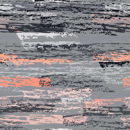Worn Texture Chalk Coal Surface. Pinstripe Endless Repeating Elements. Chalk Trends Motif. Modern Pink and Gray Backdrop. Chalk Coal Overlay Surface. Abstract Brush Vector illustration.