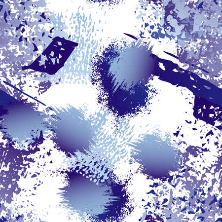 Worn Texture Splatter Surface. Paint Endless Repeating Elements. Splatter Pattern. Artistic Creative Black and White Watercolor Overlay Surface. Abstract Brush Vector illustration.