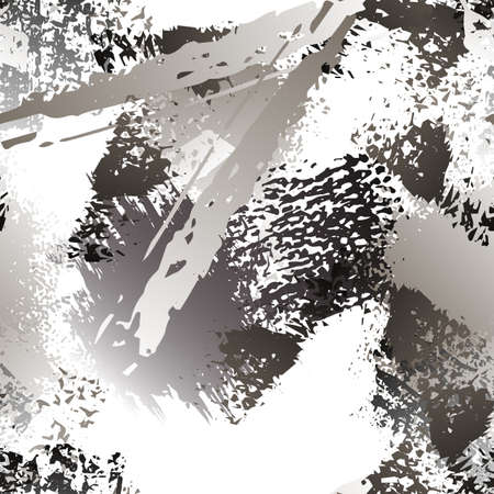 Splatter Brush Stroke Surface. Watercolor Endless Repeating Elements. Splash Print. Artistic Creative Black and White Watercolor Overlay Surface. Abstract Brush Vector illustration. Stockfoto - 157666196