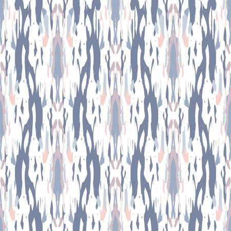 Tie Dye, Batik. Hand Drawn, Paint Texture Ornament. Traditional Surface. Endless Repeat Painting.  Rose Gray Ancient Geo Native Textile.  Natural Medallion Shibori Print.