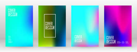 Pastel Soft. Rainbow Gradient Set. Color Background. Pink, Green, Red, Blue, Violet, Yellow Blurred Mesh. Vector Modern Banner. Abstract Bright Wallpaper. Stock Illustratie