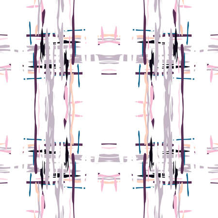 Spots, Ikat. Tie Dye, Batik. Seamless Pattern.  Geometric Surface. Hand Drawn Painted.  Red Maroon Modern Ethnic Tribal Canvas.  Geometrical Watercolor Tie dye Ornament. Stock Illustratie
