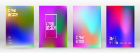 Pastel Soft. Rainbow Gradient Set Color Background