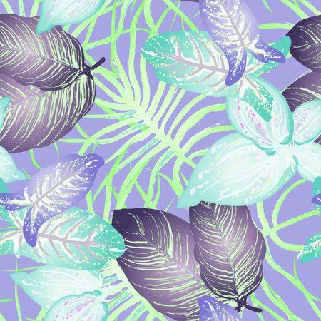 Tropical Leaf Modern Motif. Jungle Print. Foliage Summer Reklamní fotografie