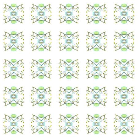 Folk Tribal Print. Geo Seamless pattern. Geometric Watercolor texture. Ethnic print. Traditional endless repeat motif. Vintage design. Ornament Native Surface. Natural Woven Design. Ornamental Tile.