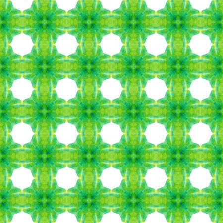 Geo Art. Endless Repeat Painting. Talavera, Azulejos, Spain, Islam, Arabic Ornament. Ethnic Surface. Modern Bed Linen. Green, Mint, Ornament. Herringbone Design.