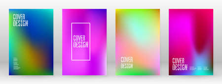 Pastel Soft. Rainbow Gradient Set. Color Background. Pink, Green, Red, Blue, Violet, Yellow Blurred Mesh. Vector Modern Banner. Abstract Bright Wallpaper. Technology Cover. Mobile Template Design.