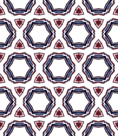 Ethnic Texture. Hand Drawn Painted. Talavera, Azulejos, Portugal, Turkish Seamless Pattern. Ethnic Texture. Old Home Decor. Black, White Tile. Geometric Element. 免版税图像