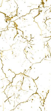 Distress Grunge Texture. Elegant Seamless Pattern. Gold Old, Retro Background. Broken, Cracked Wall Texture. Scratched, Dirt Print. Golden Luxury Grunge Style. Noise Rough Design. Vector Illustration.