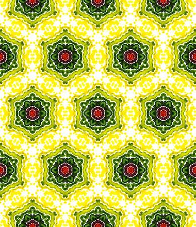 Geo Texture. Hand Drawn Painted. Tunisian, Turkish, Arab, Arabesque Seamless Pattern. Tribal Texture. Folk Vintage Rug. Burgundy, Green Art. Graphic Mosaic. 版權商用圖片