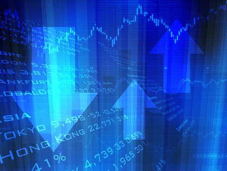 Stock Market Up Down Arrows photo