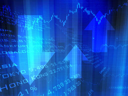 share prices: Stock Market Up Down Arrows Stock Photo