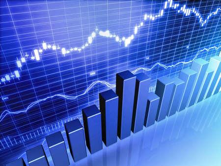 Graphe de stock market bar financière