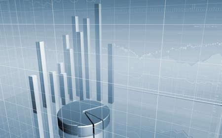 3D Stock Market Data Stock Photo - 8127337