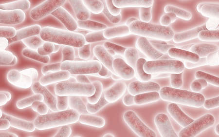 Red Bacteria Background Abstract