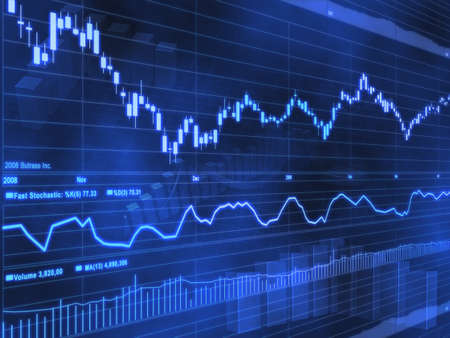finance: Stock Market Chart Stock Photo