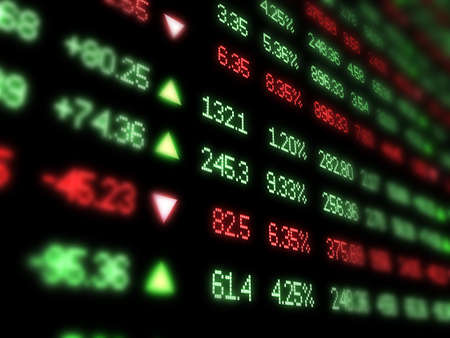 information analysis: Colorful Stock Market Ticker