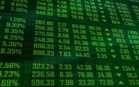 Mercado de Valores Ticker en verde Foto de archivo - 31728443