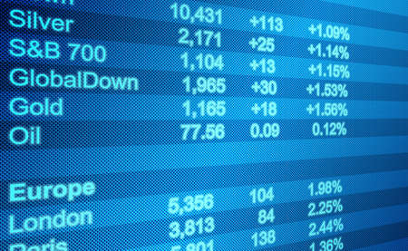 Abstract image of a computer screen of Global Markets