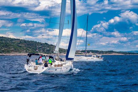 genoa: Bavaria 47 under sails Editorial