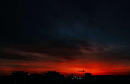 붉은 하늘 스톡 콘텐츠 - 97053399