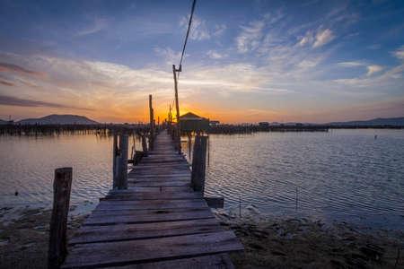 footbridges: boardwalk sunrise