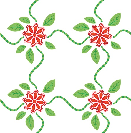 Elegant texture with red flowers  Stock Vector - 13475061