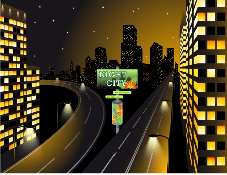 city skyline night: City Lights