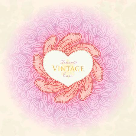 Template design for card.  Illustration