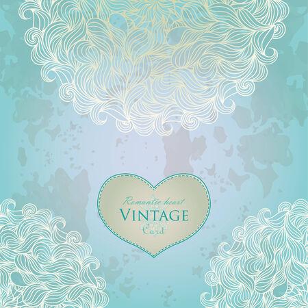 Aquamarine template design for card. Illustration