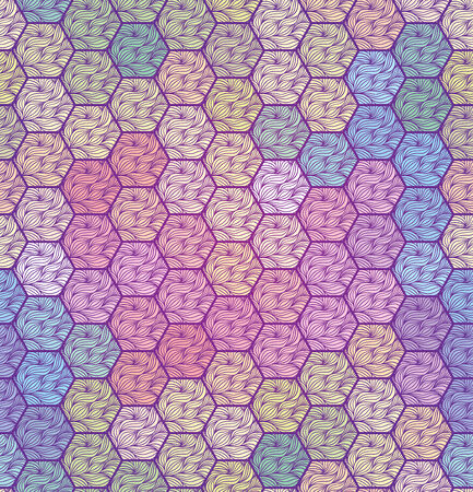 Background with hexagons. Vector