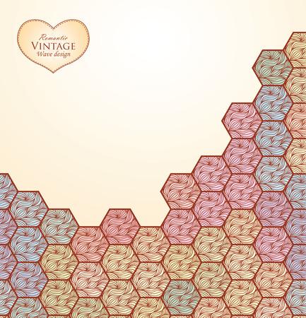 celadon: Template design for card. Illustration