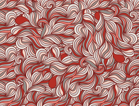 Background with abstract doodle waves