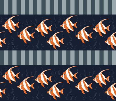 Seamless texture with fishes. EPS 8 .